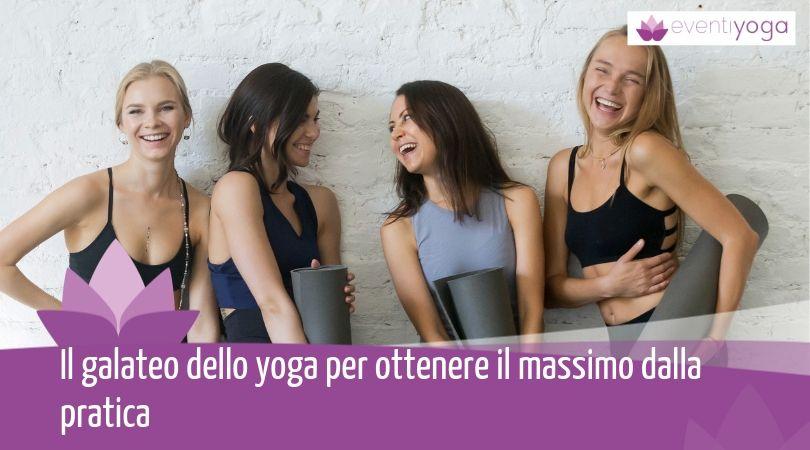 Galateo lezioni di yoga