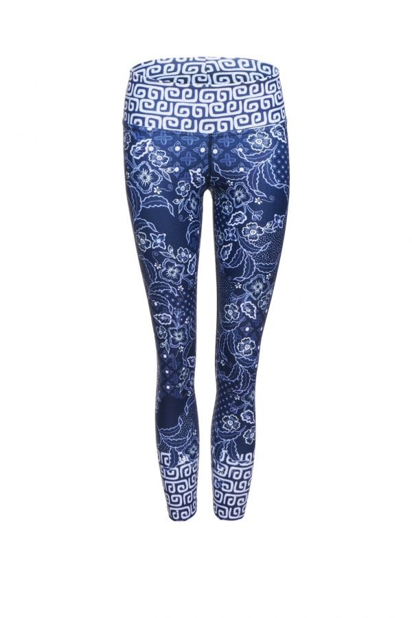Leggings classici 7/8 stampa Java Blue