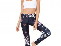 Leggings vita alta stampa Butterfly - Full Length