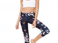 Leggings 3/4 vita alta stampa Butterfly
