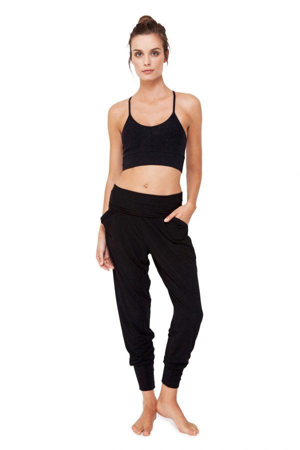 Pantaloni modello Harem da donna Neri