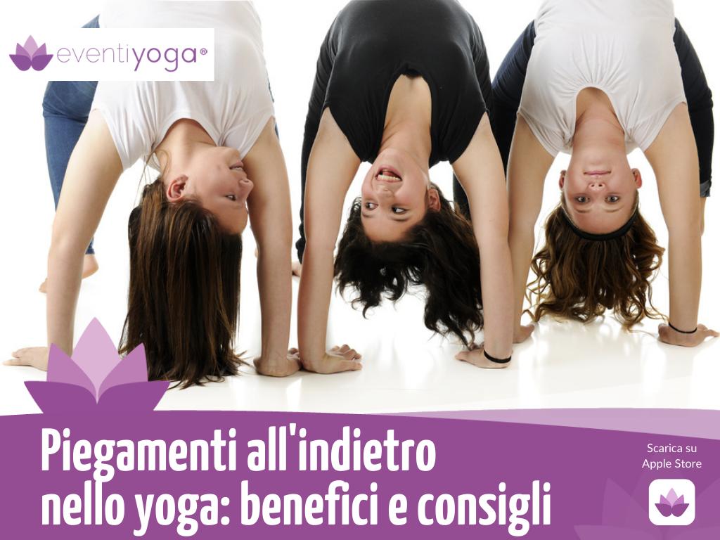 Piegamenti all'indietro nello yoga