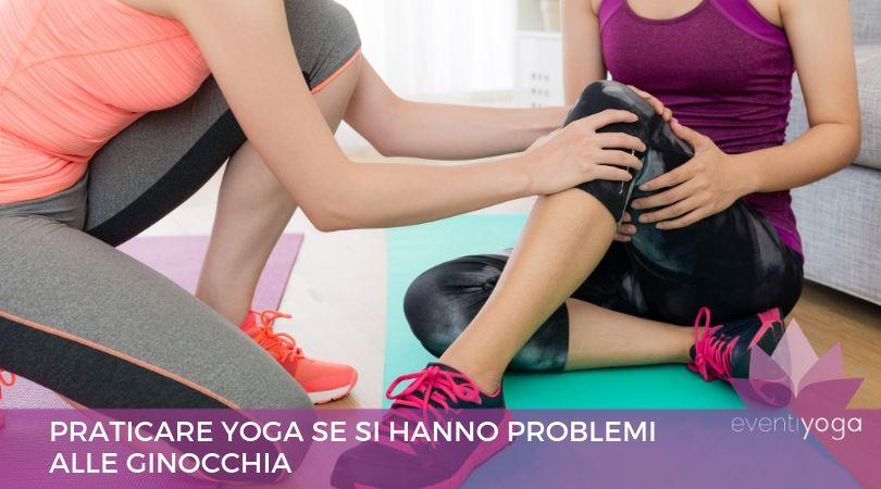yoga problemi alle ginocchia