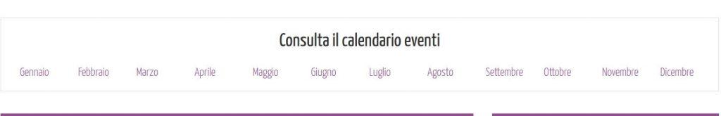 Calendario eventi portale EventiYoga