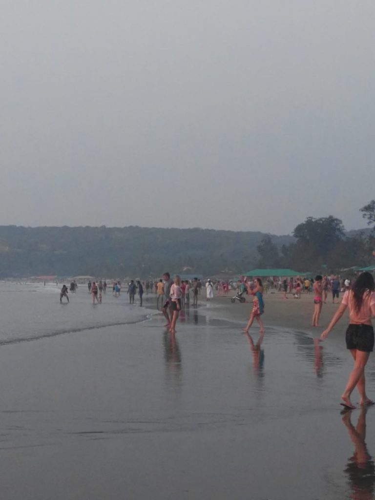 la spiaggia di Arambol