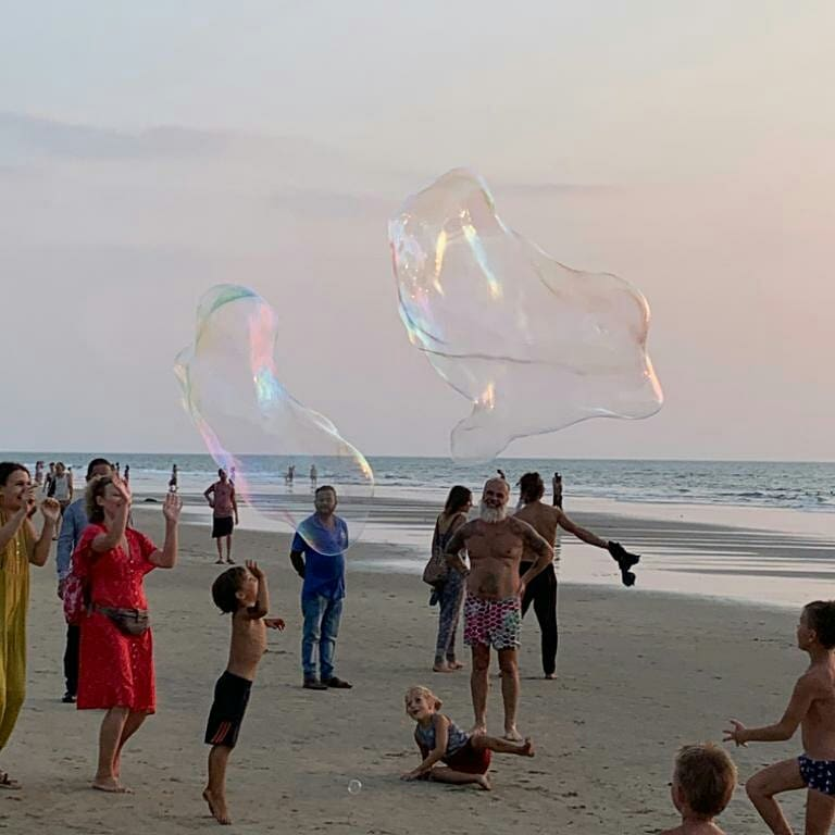 Spiaggia di Arambol - cerimonia di purificazione