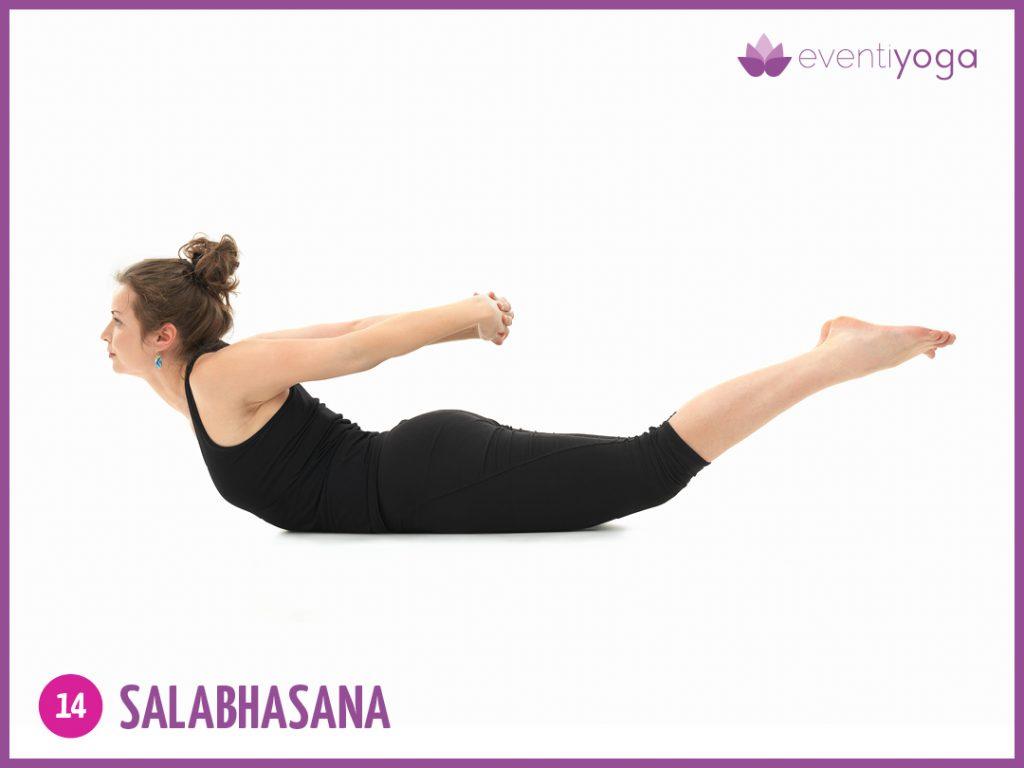 Salabhasana, la posizione della locusta contro mal di schiena