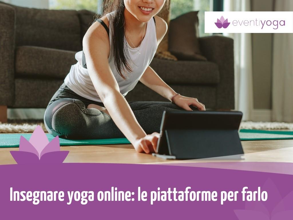 Insegnare yoga online