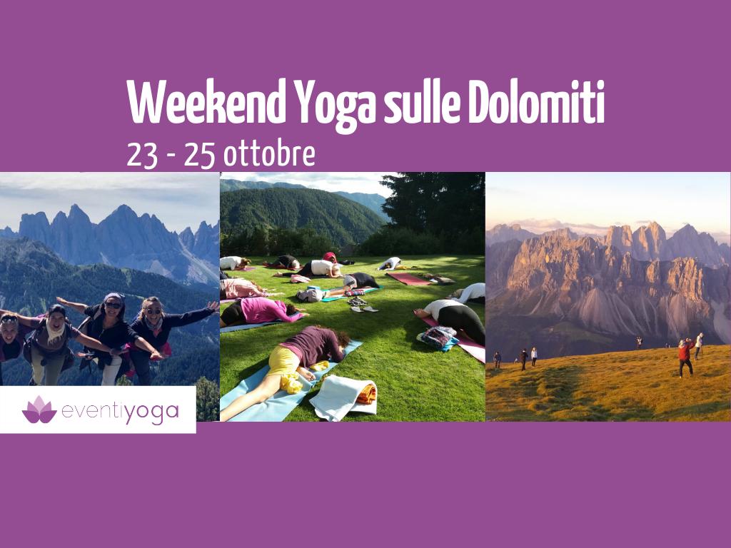 Weekend Yoga sulle Dolomiti