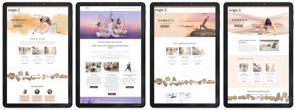 Creazione Sito Web Insegnante Yoga