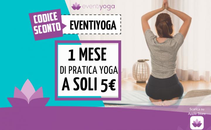 Un mese di yoga online a 5 euro