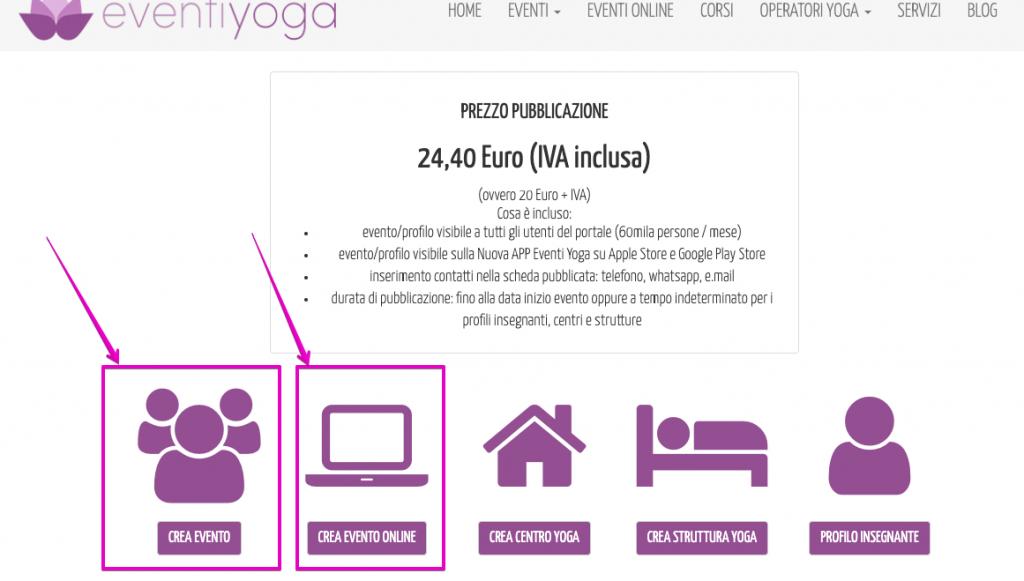 eventi yoga online o in presenza