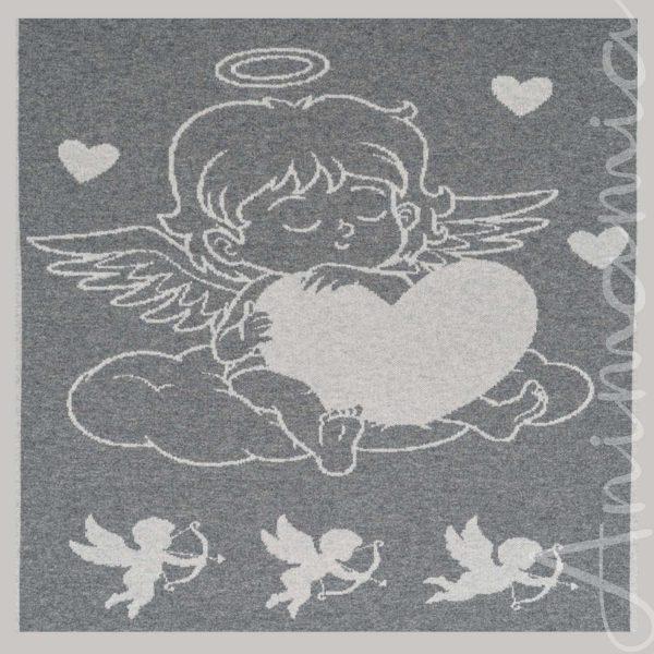 Copertina neonato in Cashmere 100%. Personalizzabile con nome