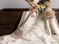 Copertina neonato in Lana Merino 100%. ANGELO. Personalizzabile