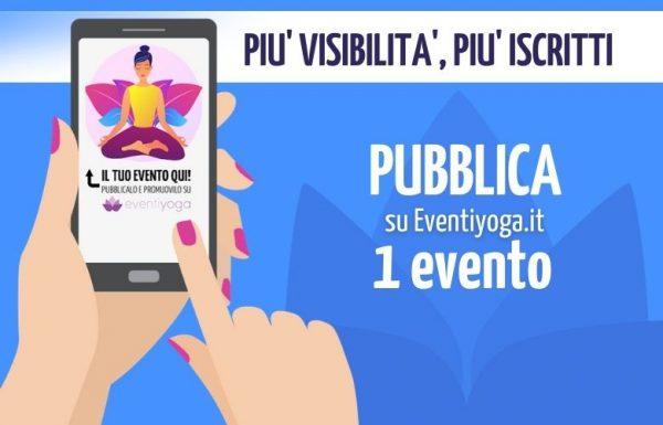 Pubblica 1 evento su Eventiyoga
