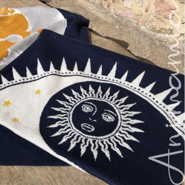 Plaid Sole Luna Lana merino