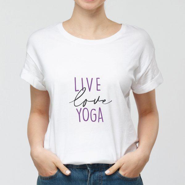 Tshirt Live Love Yoga