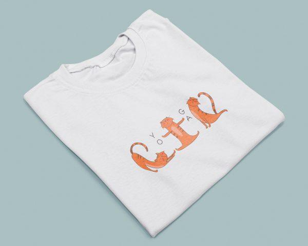 T-shirt Donna Yoga Cats