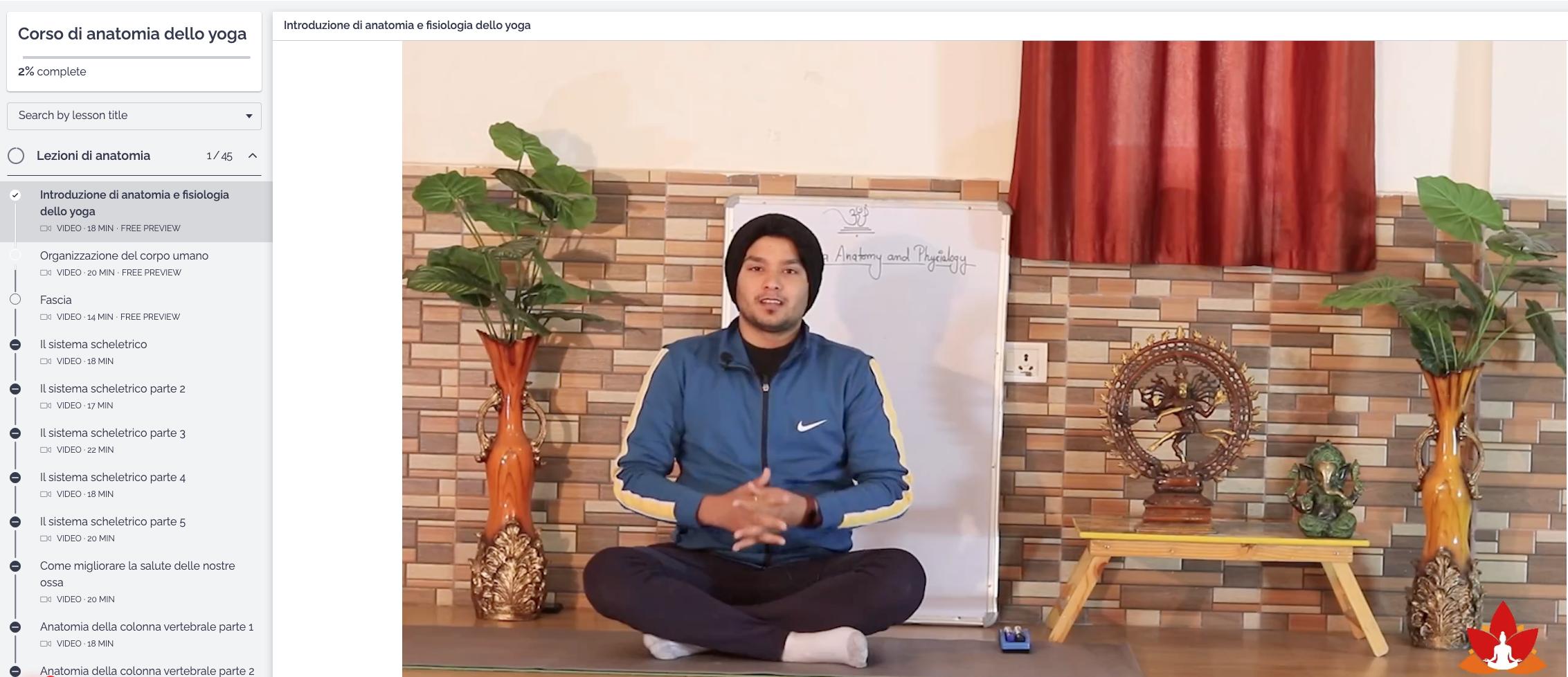 Corso Completo Anatomia dello Yoga Online