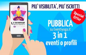 PUBBLICA 3 IN 1 EVENTI o PROFILI - EVENTIYOGA